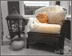Sweater Knit Pillow from Cost Plus World Market Little Brags: A Little Thanksgiving Home Tour