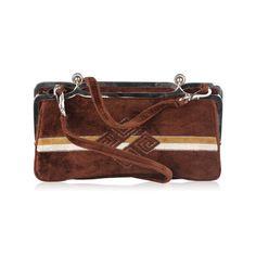 Nicolette Vintage Brown Velvet Clutch or Shoulder bag  purse  fashion   authentic  bag. OPHERTY   CIOCCI 3f621441f4bd7