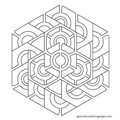 Mandala Coloring Page: Hexalinks