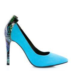 BLUE Stiletto shoes - romanian designers -  SHOP ONLINE Blue Stilettos, Stiletto Shoes, Designers, Turquoise, Heels, Shopping, Fashion, Heel, Moda