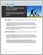 Customer Service Trends 2012
