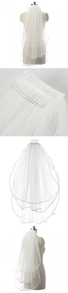 Anmor White Ivory Tulle Bridal Veils Wedding Veil Accessories AR11054(4 colors,2T/3T)