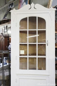 Tobacco Barn and Oddfellows. White corner cabinet - paint my curio ...