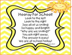 """""""Hooray for School"""" (from First Grade Wow)"""