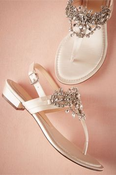 Crystal Pool Sandals- great wedding shoes for some brides that can't wear heels