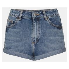 Women's Topshop Moto 'Dark Vintage Polly' Denim Shorts ($14) ❤ liked on Polyvore featuring shorts, bottoms, pants, short, mid stone, topshop, denim short shorts, denim shorts, cuffed shorts and short shorts