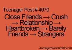 i think the hardest part about a break up is becoming strangers and never talking to your best friend again.