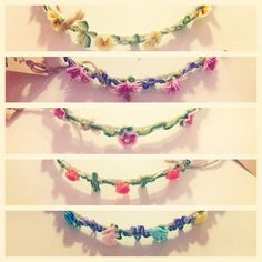 Handmade hairbands in 5 different floral designs:) email us on frillsandfancies101@gmail.com to find out more!