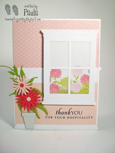 LowCountry Paisley makes a card with   Dutch Paper Craft Memory Box dies.