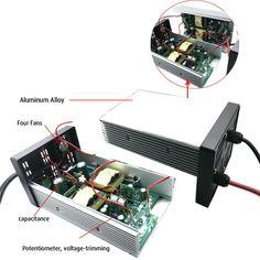87V 8A Lead Acid Battery Charger for 72V 6S Battery Ebike Power XLR Plug
