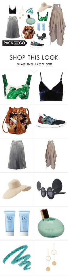 """Ballin' to Bali, Sorry!"" by misstar ❤ liked on Polyvore featuring Dolce&Gabbana, T By Alexander Wang, Antik Batik, Reebok, Miss Selfridge, Acne Studios, Eric Javits, Linda Farrow, Missoni and Yves Saint Laurent"