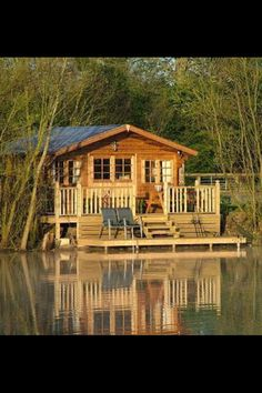 A cabin on the water is so peaceful! #vacationhomes  #cabins homechanneltv.com