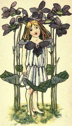 Violet - Victorian Girl with Violets