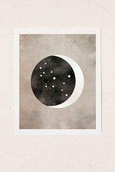 Virgo Constellation - Moon & Stars - By Claire Goodchild