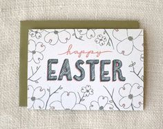 dogwood easter card
