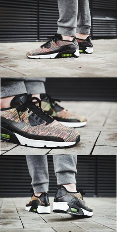 #NIKE AIR MAX 90 ULTRA 2.0 FLYKNIT #MULTICOLOR