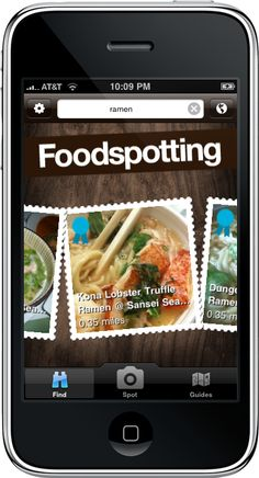 March 2009 -  The Centered Action Button was unveiled to the public with the launch of the full Foodspotting in March.