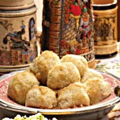 German Potato Dumplings- one of my favorites is German food, and its so hard finding good recipes that are not the common mainstream stuff. Vegetable Dishes, Vegetable Recipes, German Potatoes, Potato Dumplings German, Good Food, Yummy Food, Yummy Recipes, International Recipes, Potato Recipes