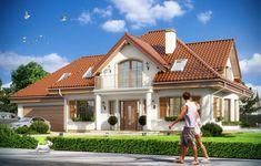 Projekt domu Ofelia - wizualizacja frontu