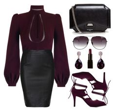 """""""High Neck Blouse"""" by the-messiah ❤ liked on Polyvore featuring Givenchy, Dita, Illamasqua, women's clothing, women's fashion, women, female, woman, misses and juniors"""