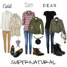 Supernatural outfits for girls! So my Supernatural addiction is over Looks Style, Looks Cool, Style Me, Castiel, Winchester Supernatural, Winchester Boys, Dean Winchester Necklace, Sam Winchester Cosplay, Winchester Brothers