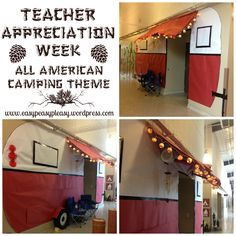 Teacher Appreciation Week All American Camping Theme ideas at www.easypeasypleasy.wordpress.com