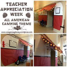 Teacher Appreciation Week All American Camping Theme ideas at www.easypeasypleasy.wordpress.com