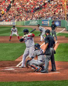Fine Art vertical photograph of Boston Red Sox player David Ortiz.