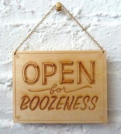 Open for Boozeness Classic Wood Art | Art Pieces | Dirty Bandits | Scoutmob Shoppe | Product Detail