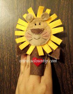 8 Moldes para hacer hermosos títeres de papel con niños ~ Solountip.com Kids English, Teddy Bear, Fruit, Toys, Animals, Diy Baby, Choker, Paris, How To Make