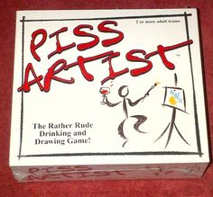 Piss Artist Drinking Board Game Dinner Party Game For Adults