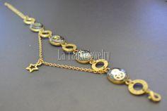 Black Star Bracelet Science Jewelry Statement by LaTaniaJewelry