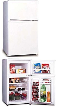 Mini Fridges 71262: Retro Refrigerator Mini Dorm Cooler Reversable Door  Hinge W Full Width Freezer  U003e BUY IT NOW ONLY: $185.29 On EBay!