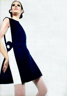 Vintage Dress by Pierre Cardin for L'Officiel Magazine 1969
