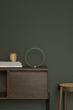 Northern i samarbeid med Jotun om fargen Northern Mystic. Interior Exterior, Modern Interior, Interior Design, Green Wall Color, Green Home Decor, Paint Colors For Living Room, Bedroom Green, Interior Inspiration, Bedroom Inspiration