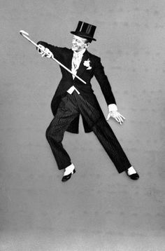 Fred Astaire doing the 'Putting on the Ritz' number, from the film 'Blue Skies' - 1945