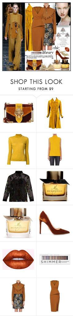 """""""Study Session: Library Chic"""" by yours-styling-best-friend ❤ liked on Polyvore featuring Wildfox, Prada, Vintage, Golden Goose, Barneys New York, MASSCOB, Balmain, Burberry, Forever 21 and Nina Ricci"""