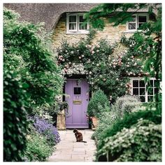 Exton is a tiny village in Rutland, towards the border with Lincolnshire a few miles to the south. The population is around 500 people, and… Cottage Front Doors, Cottage Door, Garden Cottage, Cozy Cottage, Cottage Homes, Cottage Style, Purple Front Doors, Purple Door, Front Door Colors