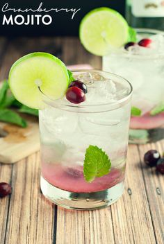 Start the night off right with this amazing Cranberry Mojito!