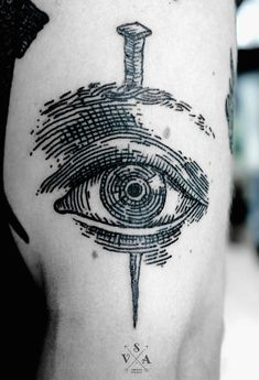 Eye tattoo by SV. A