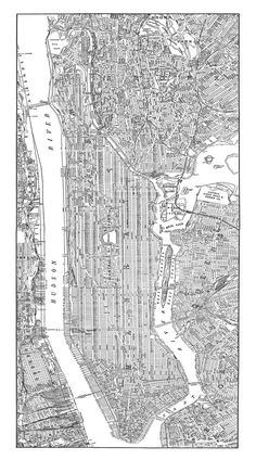 1938 New York City Manhattan Street Map Vintage 18x36 Print Poster. $49.95, via Etsy.