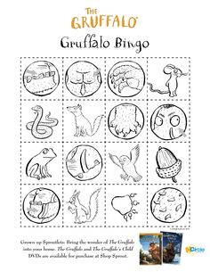 Gruffalo_bingo.jpg (2550×3300); inspiration for gruffalo peg doll and block set