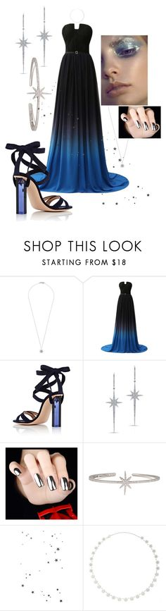"""""""Midnight"""" by sparklyduck ❤ liked on Polyvore featuring Bee Goddess, Gianvito Rossi, Anne Sisteron and APM Monaco"""
