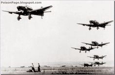 The Stuka Dive Bombers. JU-87. These played a major part in early days of Barbarossa in destroying Soviet forward positions and warplanes. Later in the war they became obsolete and thus easy pickings for Soviet fighters and ack-ack.