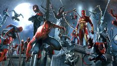 'Spider-Verse' Banner by Gabriele Dell'Otto. The Spider-Verse event joins all comic book incarnations of Peter Parker, and beyond. Marvel Comics, Marvel E Dc, Marvel Heroes, Marvel News, Spider Verse, Stan Lee, Every Spider Man, Comic Book Characters, Comic Books