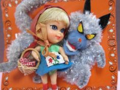 Storybook Kiddles Liddle Red Riding Hiddle Doll Little Red Riding Hood Wolf NRFP