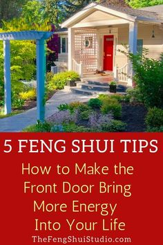 Five Feng Shui Tips on how to Feng Shui your front door to bring more vitality a. - Five Feng Shui Tips on how to Feng Shui your front door to bring more vitality and flow into your h - Feng Shui Plants, Feng Shui Garden, Feng Shui Art, Feng Shui House, Feng Shui Bedroom, Front Door Plants, Front Door Colors, Front Door Decor, Front Doors