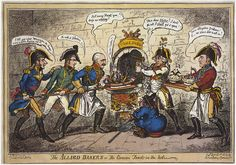 The Allied Bakers or, The Corsican Toad in the hole, by George Cruikshank, April 1, 1814