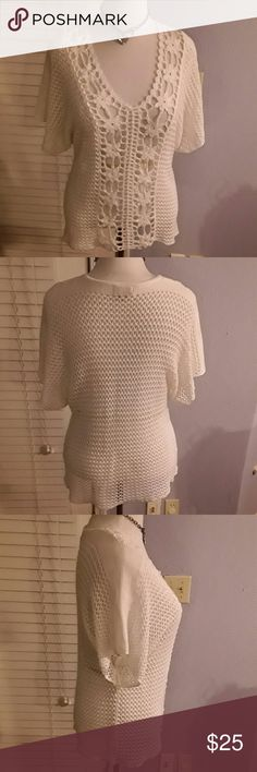 Flash sale....Live and let live XL White Sweater Listed at $16  White sweater,  no stains or pulled knitting live and let live  Tops