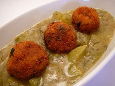 Kapros karalábés tökfőzelék gombóccal (tej-, tojás- és húsmentes, vegán) ~ Receptműves